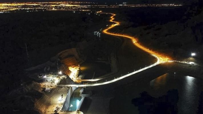 La Presa Quebrada de Ullum ya está iluminada