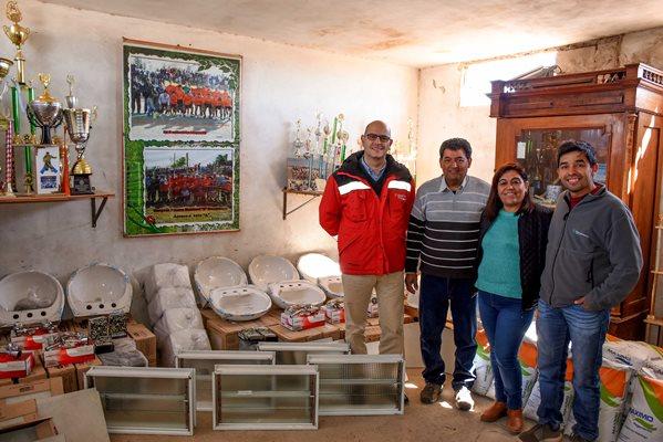 Otra Banda completará la construcción de sus camarines con la ayuda de Minas Argentinas