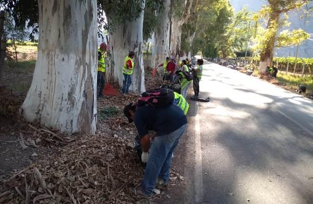 En Zonda iniciaron trabajos de limpieza remodelación y  recuperación de espacios