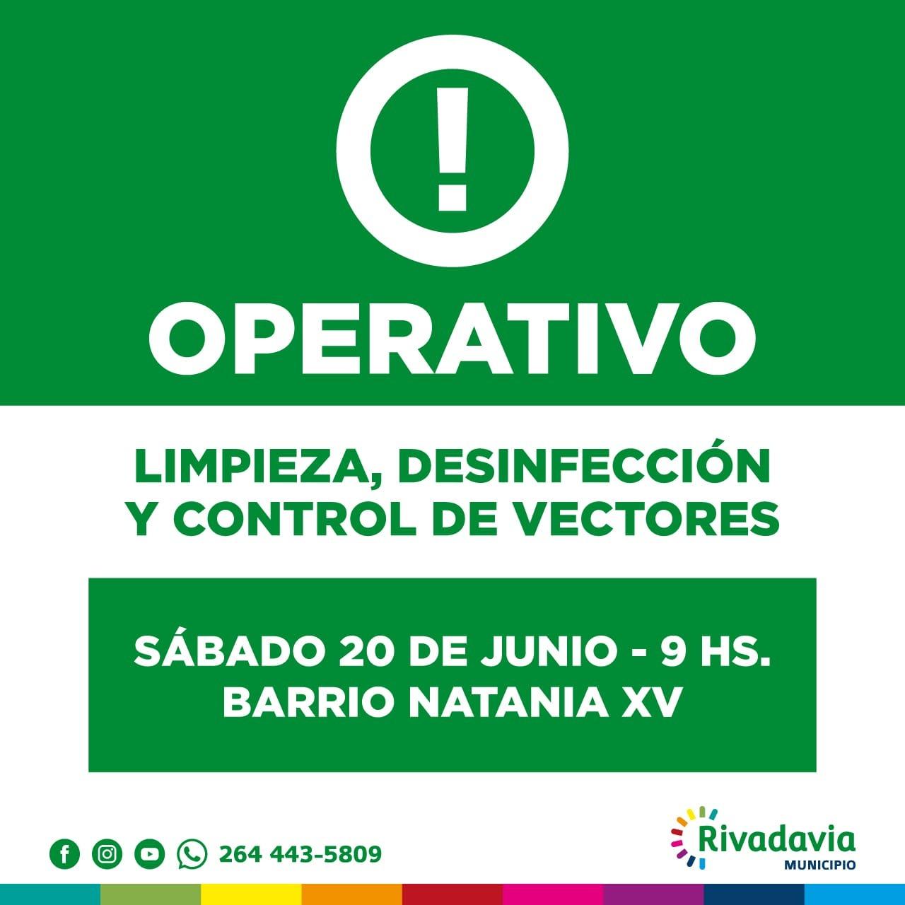 Rivadavia: Operativo de limpieza en el Barrio Natania XV