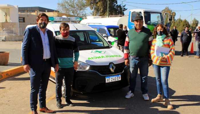 Angaco presentó la nueva flota de movilidades para el municipio