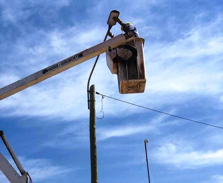 San Martín: Continúan las mejoras en el alumbrado público para dar más seguridad a los vecinos