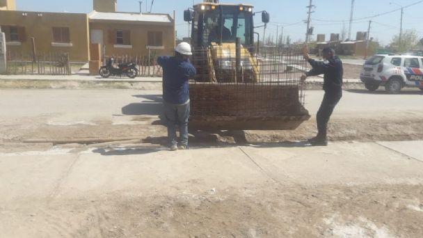 25 de Mayo: recuperaron los 50 metros de malla de alambre que robaron del hospital