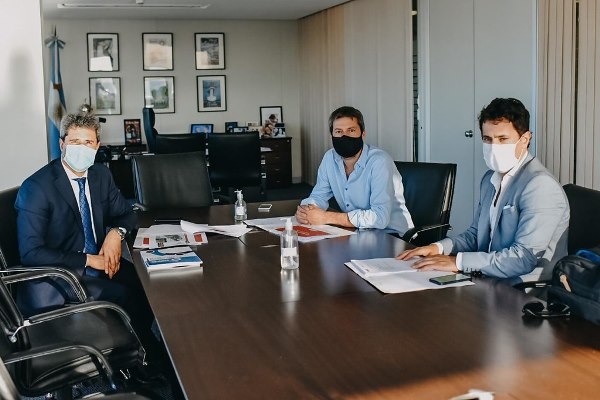 Uñac se reunió con los ministros Kulfas y Lammens