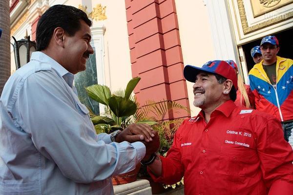 """Fernández compartió una carta de Maduro por Maradona: """"Venezuela está junto a ustedes"""""""