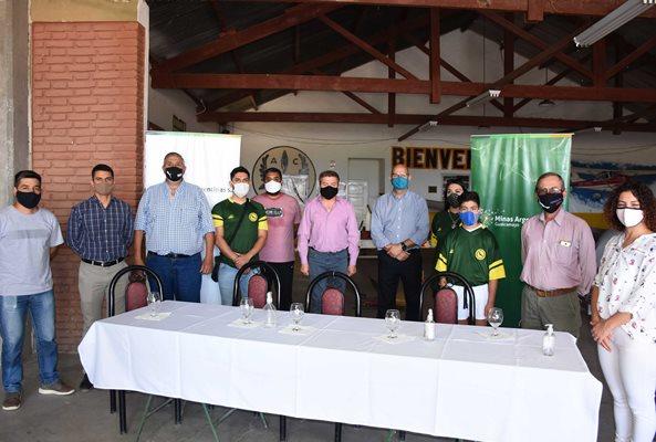 Minas Argentinas sumó la red de riego presurizado para el Cóndor Rugby Club y la Ciudad Deportiva de Jáchal