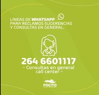 Áreas municipales de Pocito habilitaron números de WhatsApp para la atención de vecinos