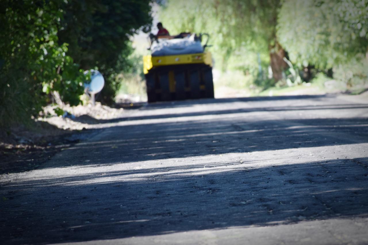 Nuevas calles pavimentadas en Pocito