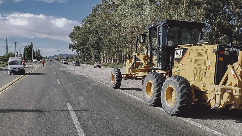 Luego del sismo, avanzan los trabajos en las rutas de la provincia afectadas