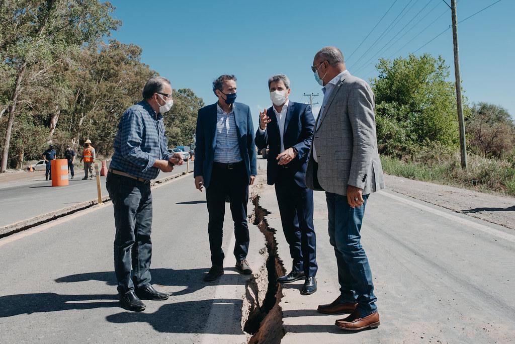 Uñac y Katopodis recorrieron la Ruta 40 y las obras del Acueducto Gran Tulum