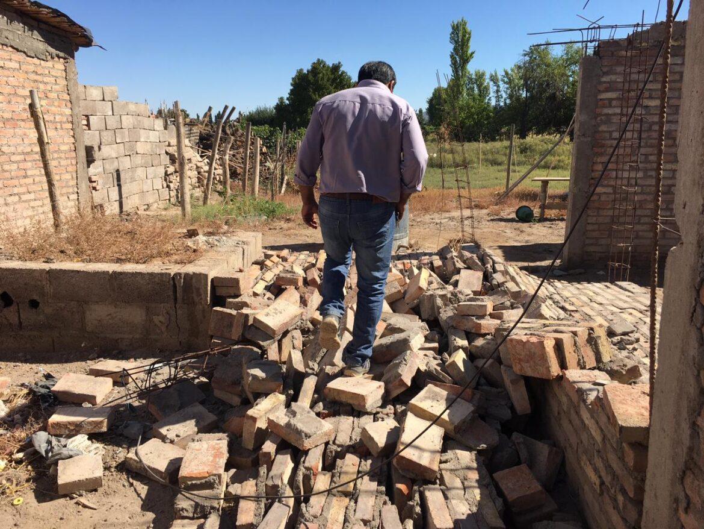 Caucete: Al menos 20 familias sufrieron daños en sus viviendas