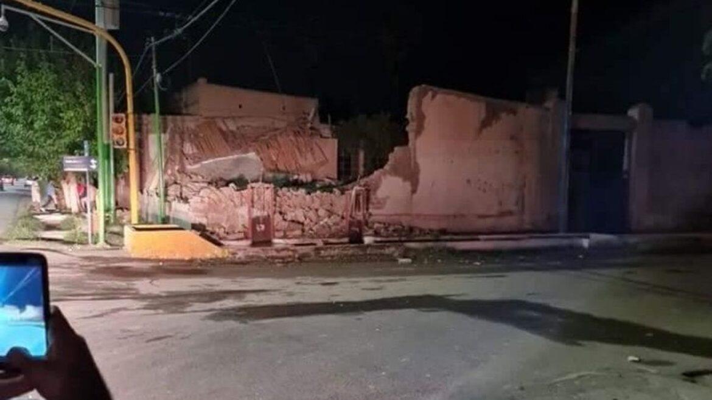 Cuatro heridos en Pocito tras el sismo