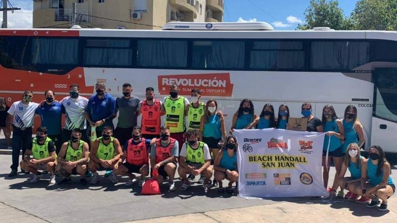 Beach handball: San Juan partió en busca de una nueva hazaña