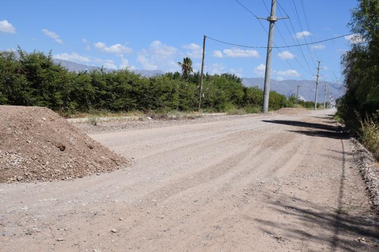 Pocito: realizaron mejoras en un tramo de calle 8