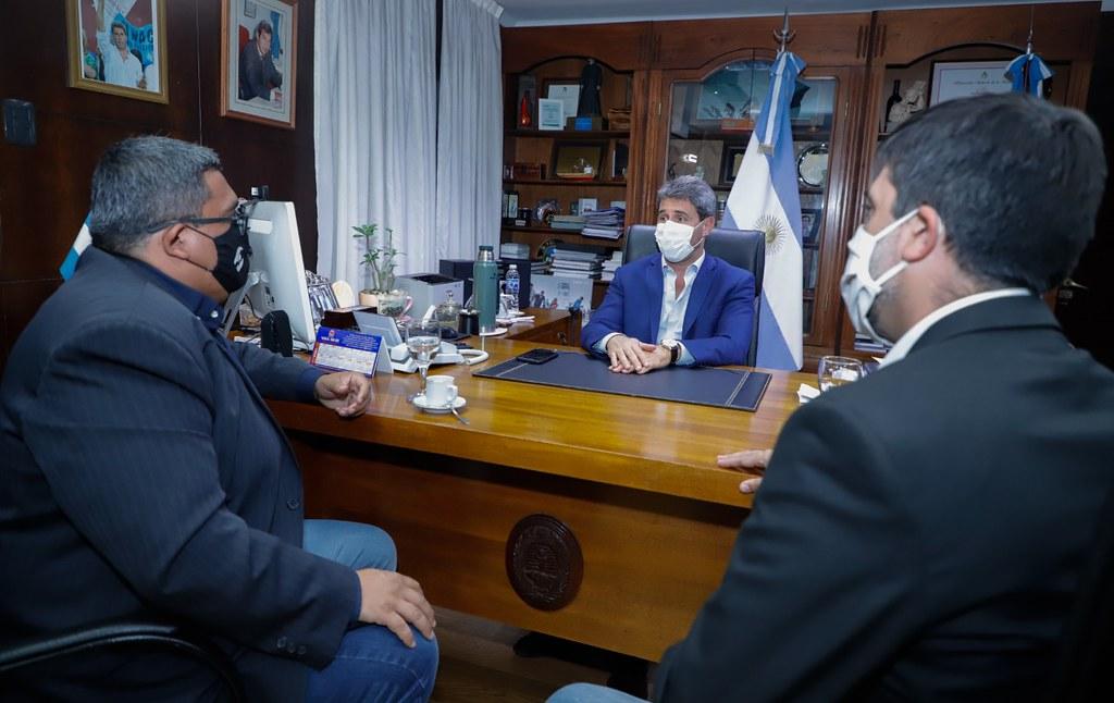 Uñac recibió al secretario general de Asijemin, Marcelo Mena