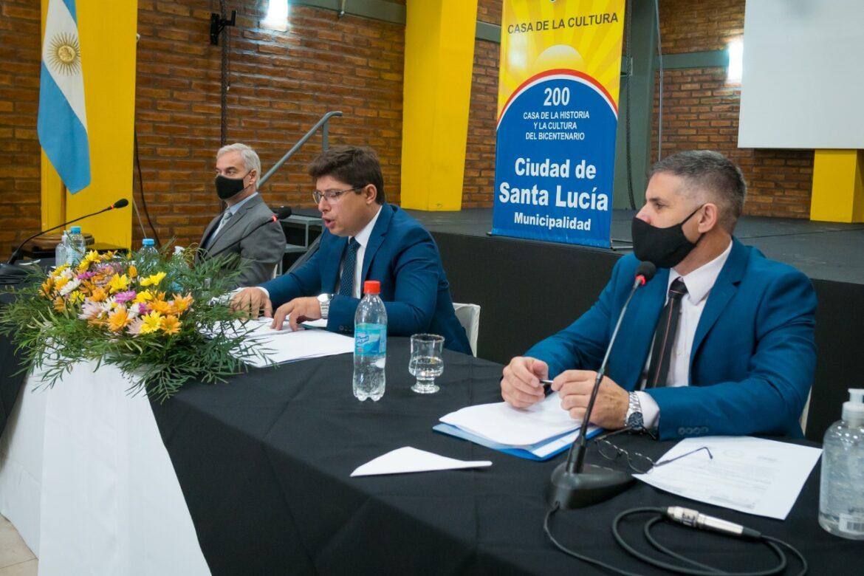 Dieron inicio al período de sesiones del Concejo Deliberante de Santa Lucía