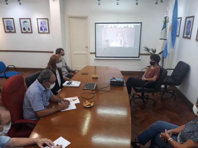 Albardón: el intendente Jorge Palmero se reunió con funcionarios de CoPESJ y UIM