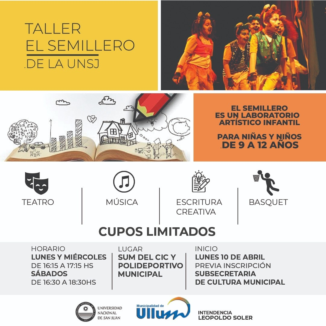 Taller cultural y deportivo para niños en Ullum