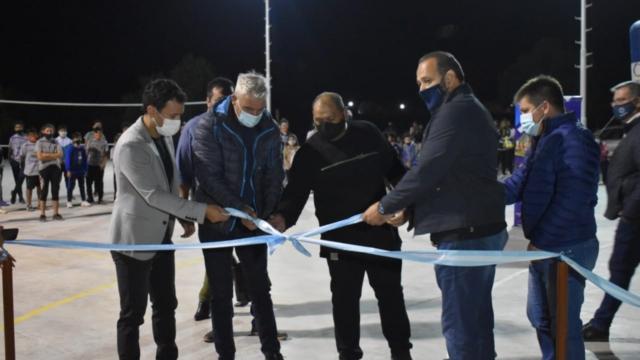 Sarmiento: inauguración de obras en divisadero