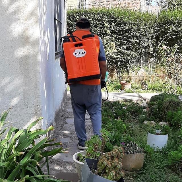 Caucete realizó saneamientos en las Escuelas Chirapozu y Barrio Justo Castro I