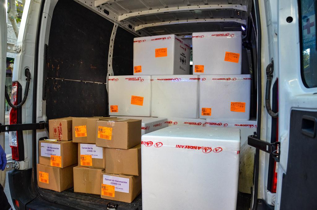 Llegaron 16.200 nuevas dosis de vacunas Sinopharm a la provincia