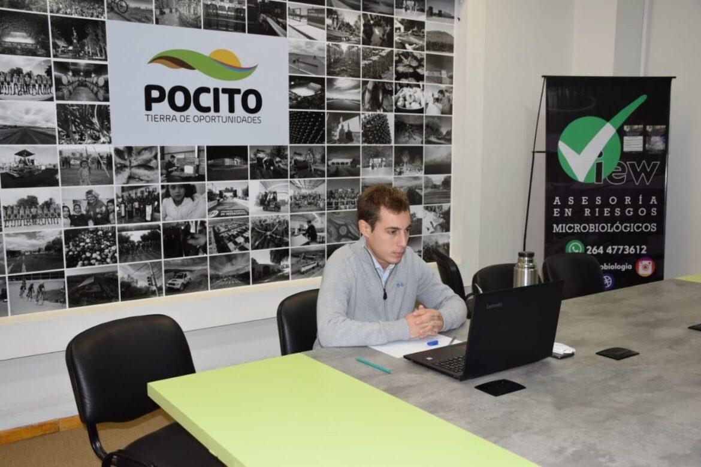 El subsecretario de Producción de Pocito, participó de una reunión virtual con el Ministerio de Producción y Desarrollo Económico de San Juan