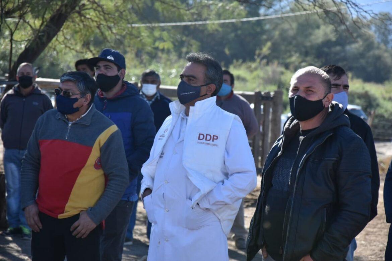 Se entregaron vacunas para bovinos y presentaron programas productivos en Jáchal