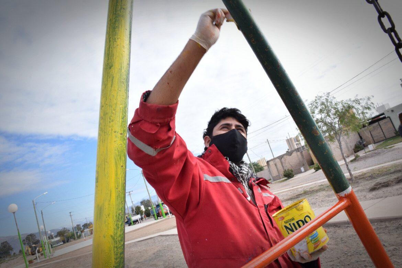 Embellecimiento en plazoleta y playón deportivo del Barrio Cordillerano