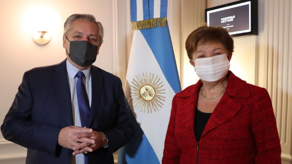 El presidente Alberto Fernández se reunió con  la titular del Fondo Monetario Internacional