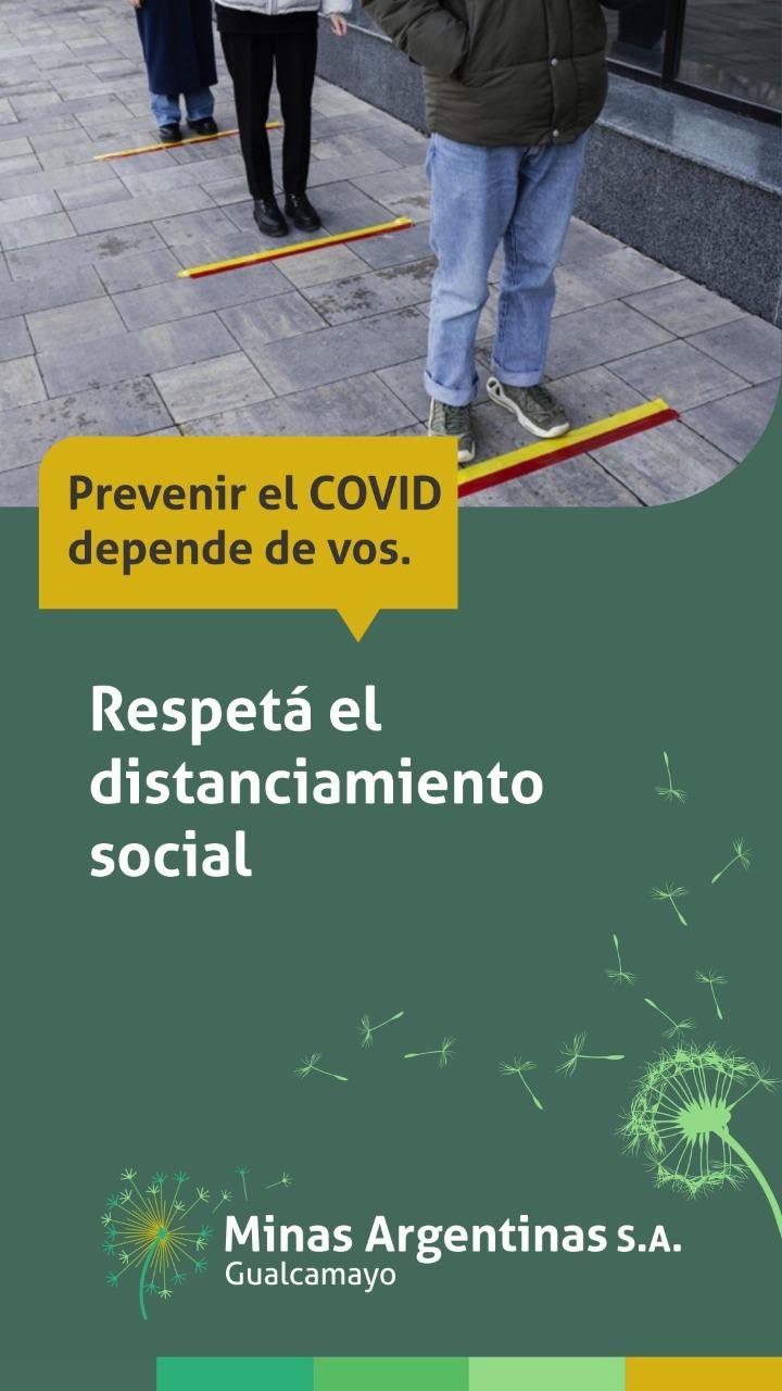 Respetá el distanciamiento social