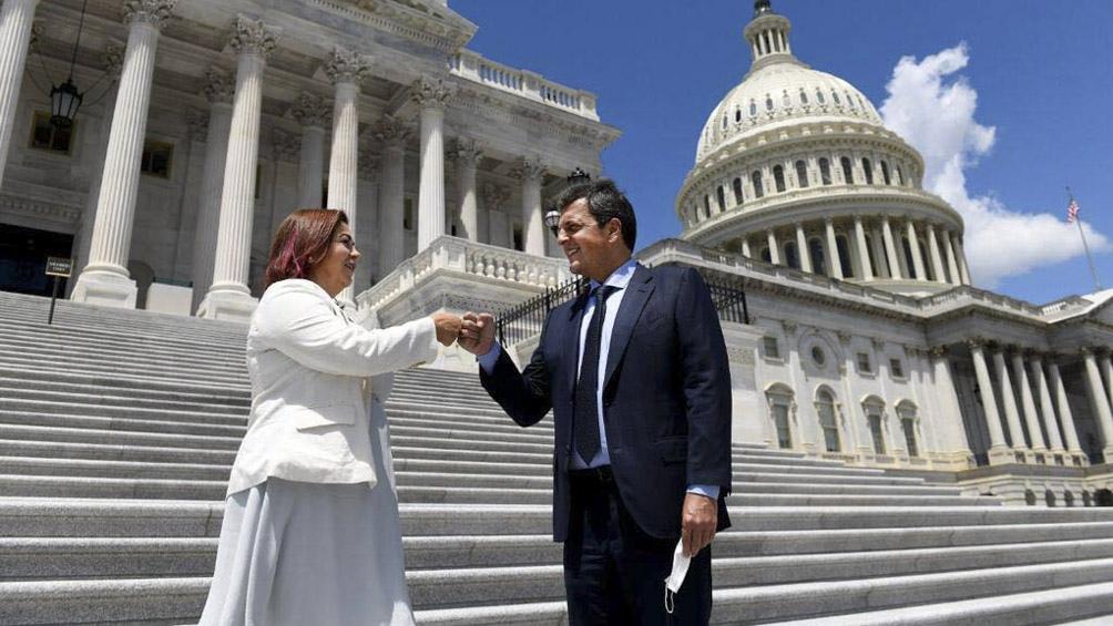 """Massa: la Argentina """"está bien encaminada"""" en la negociación con el FMI"""