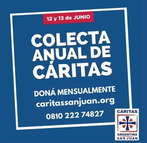 Si sos de Angaco, enterate dónde colaborar con la colecta anual de Cáritas