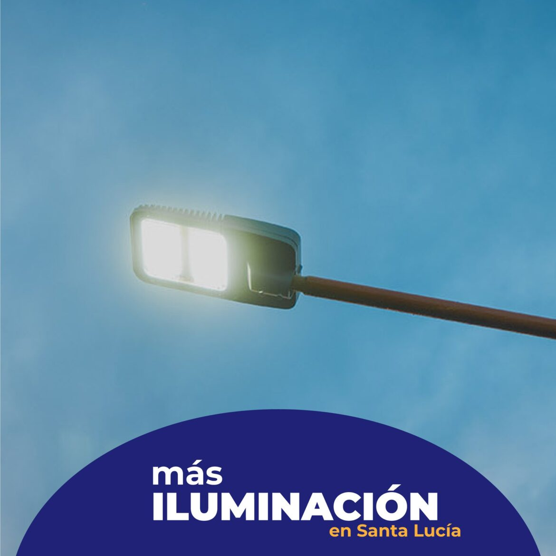 Santa Lucía: Calles Gral Paz y Amarfil más iluminadas
