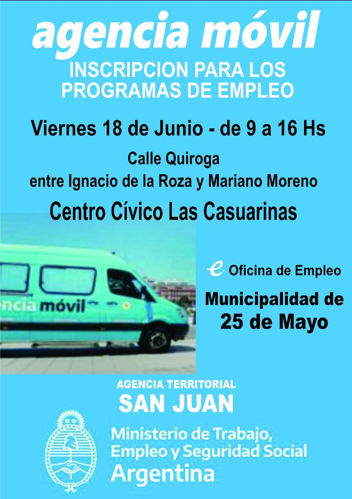 Agencia Móvil llega a 25 de Mayo