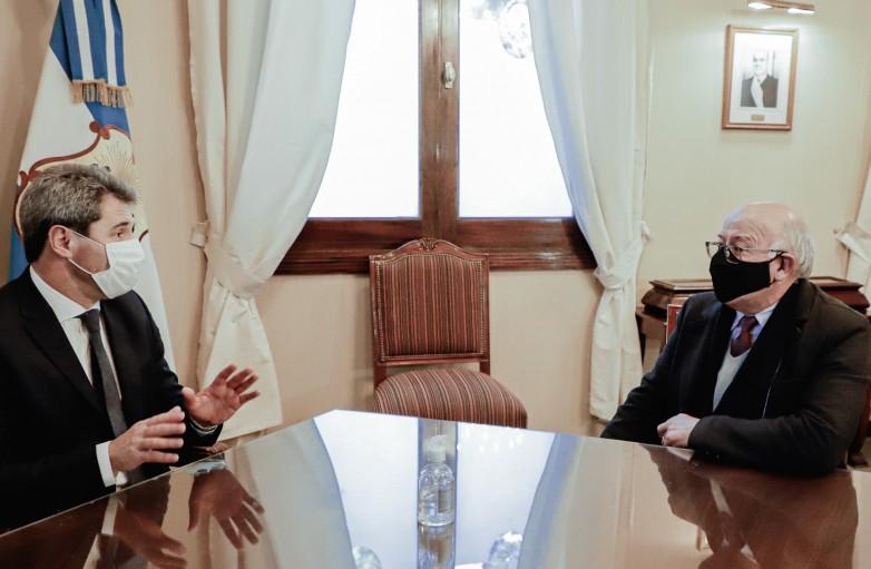 Sergio Uñac se reunió con Tadeo Berenguer, nuevo rector de la UNSJ