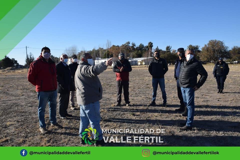 Valle Fértil continúa trabajando por el Helipuerto