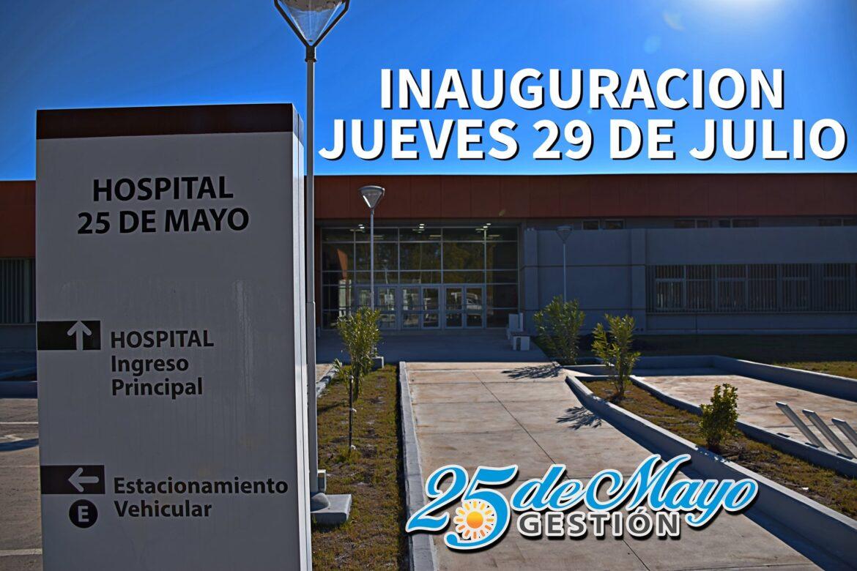 Este jueves 29 de julio se inaugura el Hospital de 25 de Mayo