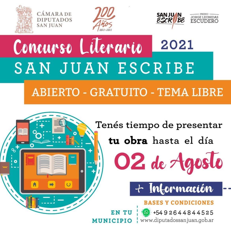 San Juan Escribe: prórroga hasta el 2 de Agosto
